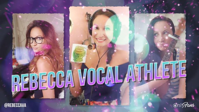 It's time to sing along with @RVA_official on OnlyFans! 🎤💖 Voice coach and YouTube sensation Rebecca