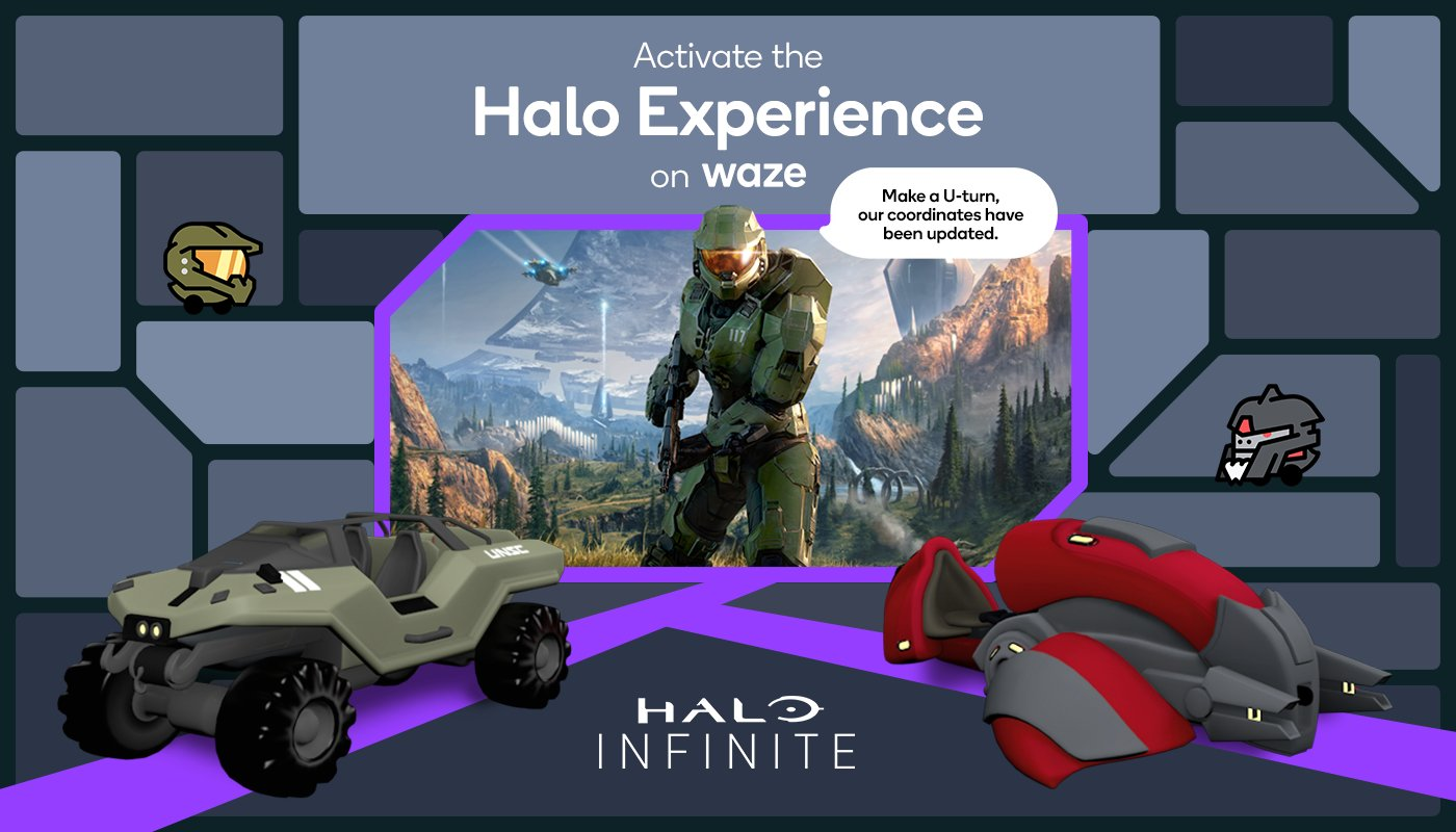 Activate the Halo experience on Waze!