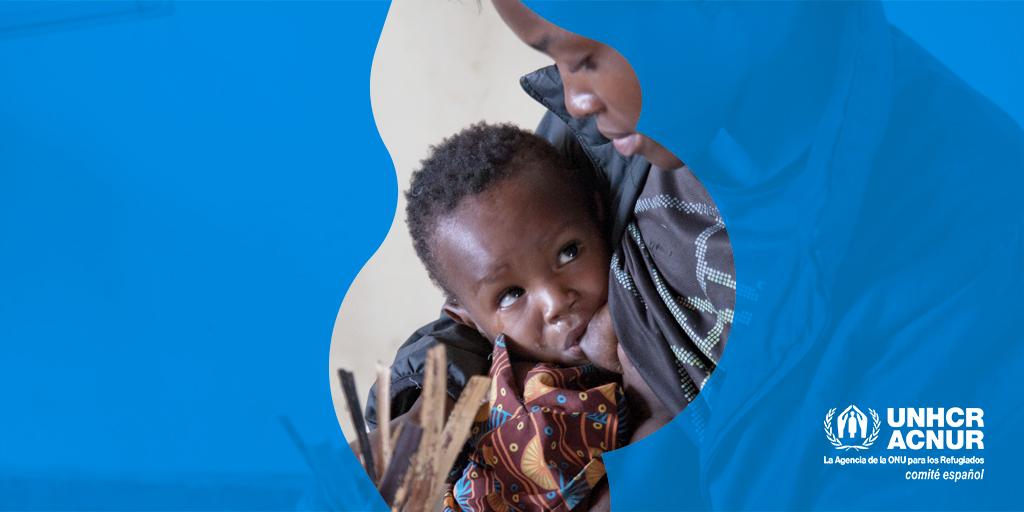 """Desde la Fundación """"la Caixa"""" y @eACNUR luchamos contra la desnutrición infantil desde el primer día de vida y lo hacemos a través del proyecto MOM. Más información 👇🏻 #FundaciónlaCaixa #ProyectoMOM #SemanaMundialLactanciaMaterna"""