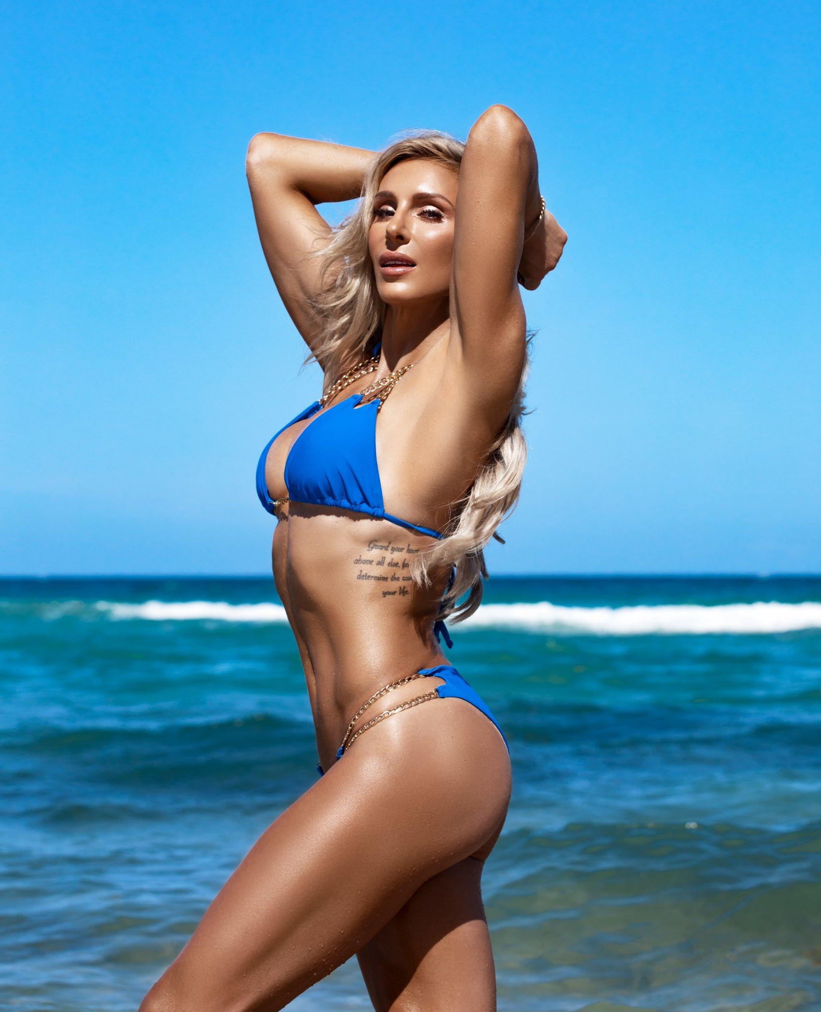 "WWE Star Charlotte Flair Posts ""Confidence Is Sexy"" Bikini Photo 61"