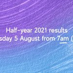 Image for the Tweet beginning: Our Half-year 2021 results will