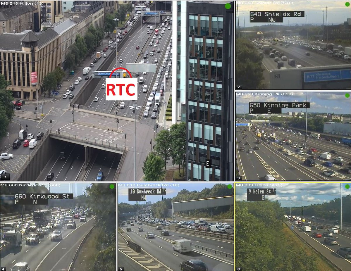 test Twitter Media - UPDATE❗ ⌚ 17:20  #M8 RTC  Lanes 2 and 3 of 3 are now closed eastbound on the M8 between J19 and J18 due to an RTC.  TRISS & police are on scene. Slow traffic back to J26.  @SWTrunkRoads @GlasgowCC https://t.co/qEU6Pr9SYW