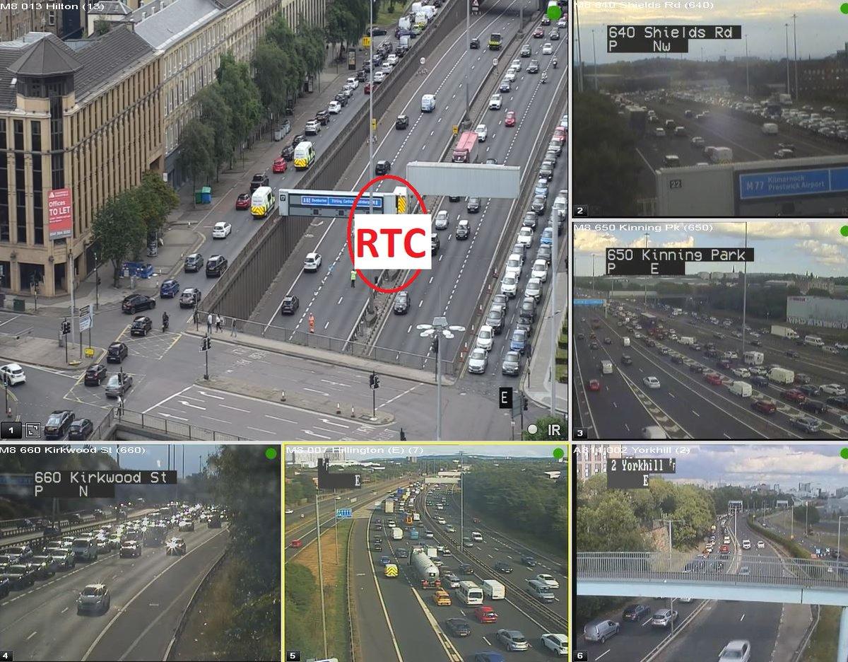 test Twitter Media - UPDATE❗ ⌚ 17:40  #M8 RTC  Lanes 2 and 3 of 3 are now closed eastbound on the M8 between J19 and J18 due to an RTC.  TRISS & police are on scene. Slow traffic back to J26 and onto the #A814 Clydeside Expressway.  @SWTrunkRoads @GlasgowCC https://t.co/XwVWOvC58Q