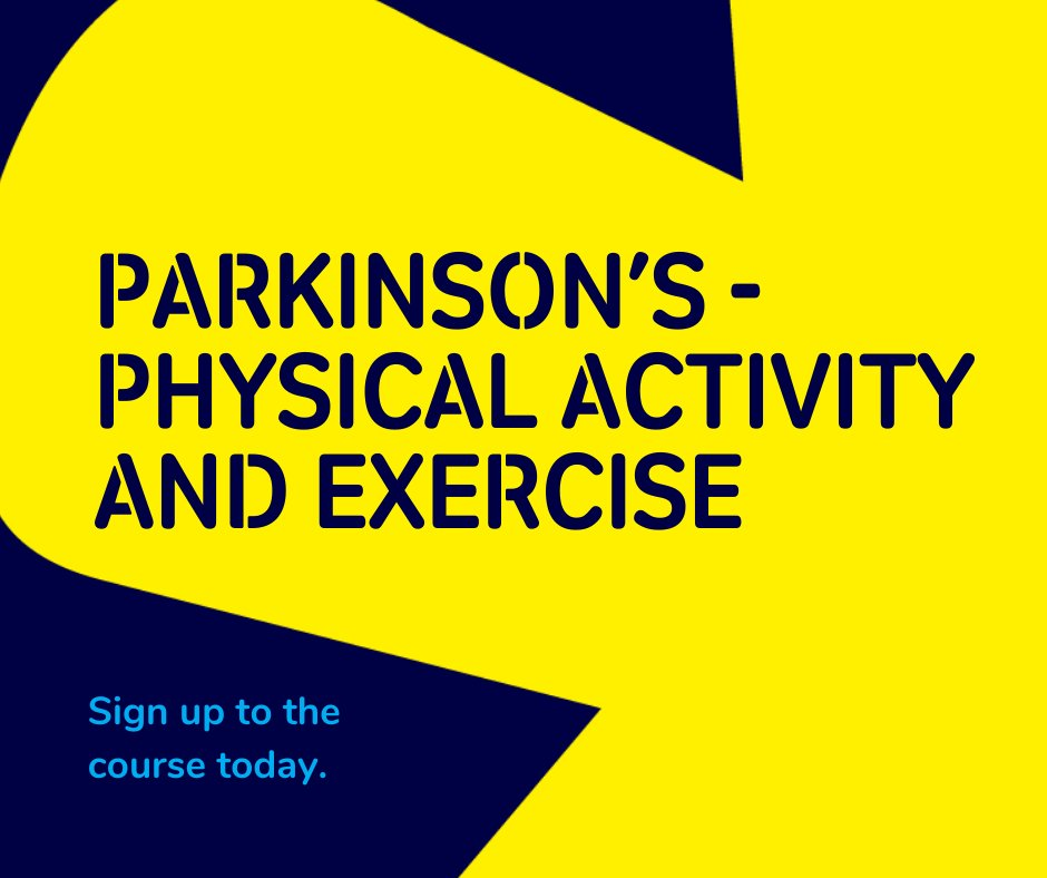 RT @ParkinsonsUK: Do you provide or promote physical activity and exercise to people with Parkinson's?  This course will give you access to multimedia resources on #Parkinsons and physical activity and exercise.  Click to sign up 👉🏾 https://t.co/VkNAgEsw2w  #WeAreUndefeatable