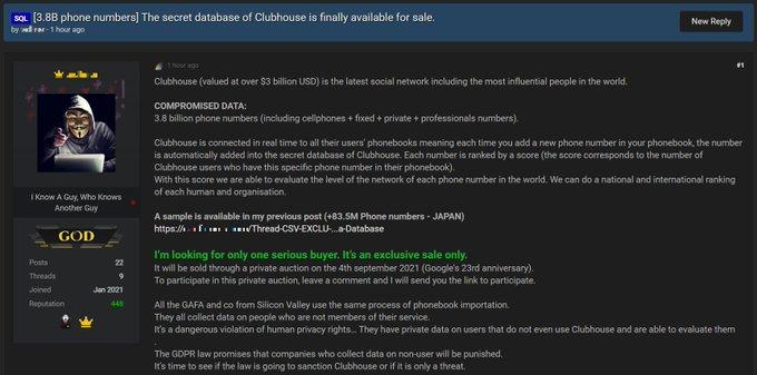 Clouhouse data leak