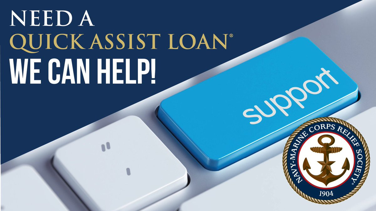 NMCRS provides interest-free Quick Assist Loans® to active duty Sailors and Marines who are in an emergency financial situation. Learn more.  https://t.co/3H2QTLW1hV #loan #quickloan #navy #marines #financialassistance #militaryfamily https://t.co/7PFCJ1NJky