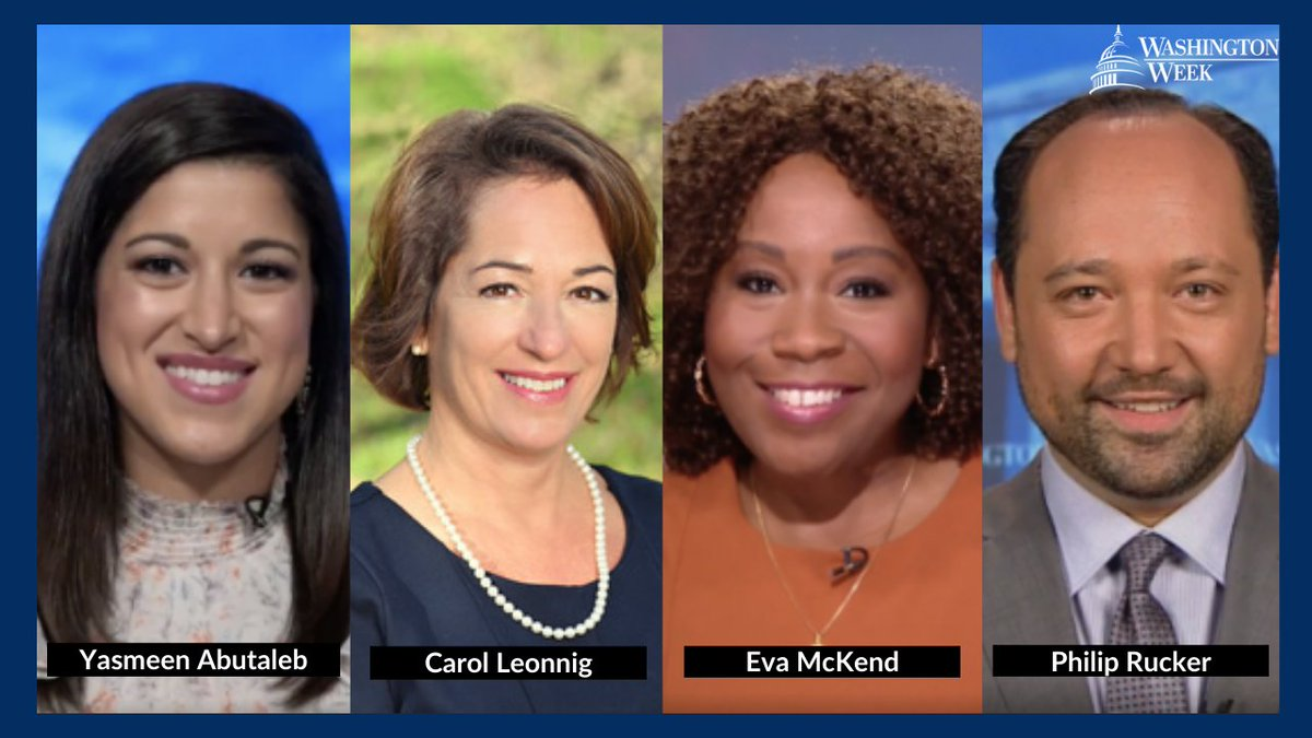 #WashWeekPBS is live in one hour. Tonight @CarolLeonnig, @PhilipRucker, @evamckend & @yabutaleb7 join @yamiche to discuss the White House urging Americans to get vaccinated, the fallout from Jan 6th, and much more. Read more here: https://t.co/1STkQMRBHX https://t.co/mwfU8IgoKQ