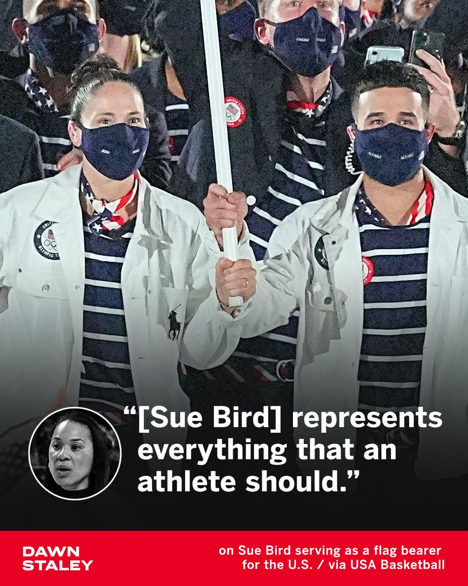 .@dawnstaley with high praise for five-time Olympian and U.S. flag bearer @S10Bird 👏 https://t.co/J7yI2L9ZsS