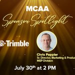 Image for the Tweet beginning: Join us for MCAA's Sponsor