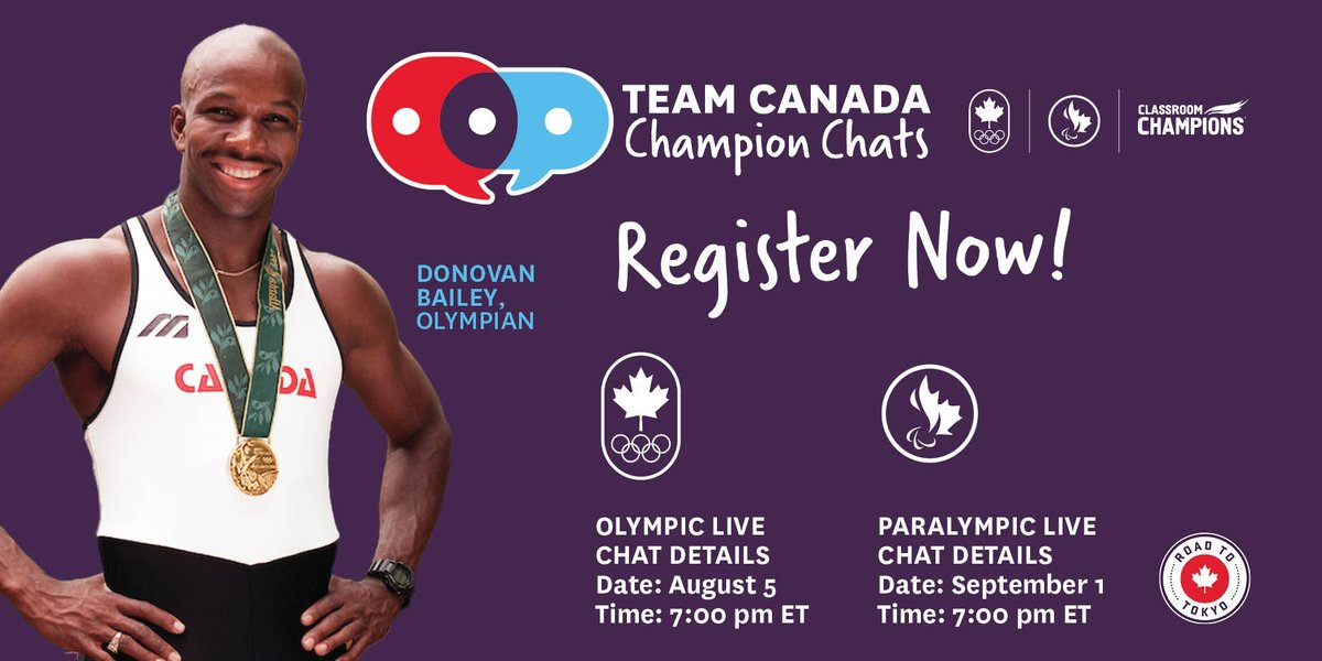 Today we're celebrating the beginning of Olympic season which means the Paralympics aren't too far behind!🥇 @ClassroomChamps is excited to bring you activities and a LIVE experience straight from Tokyo! Join @TeamCanada & @CDNParalympics now! https://t.co/Ec8RutL1sh https://t.co/foB3qXF7Iz
