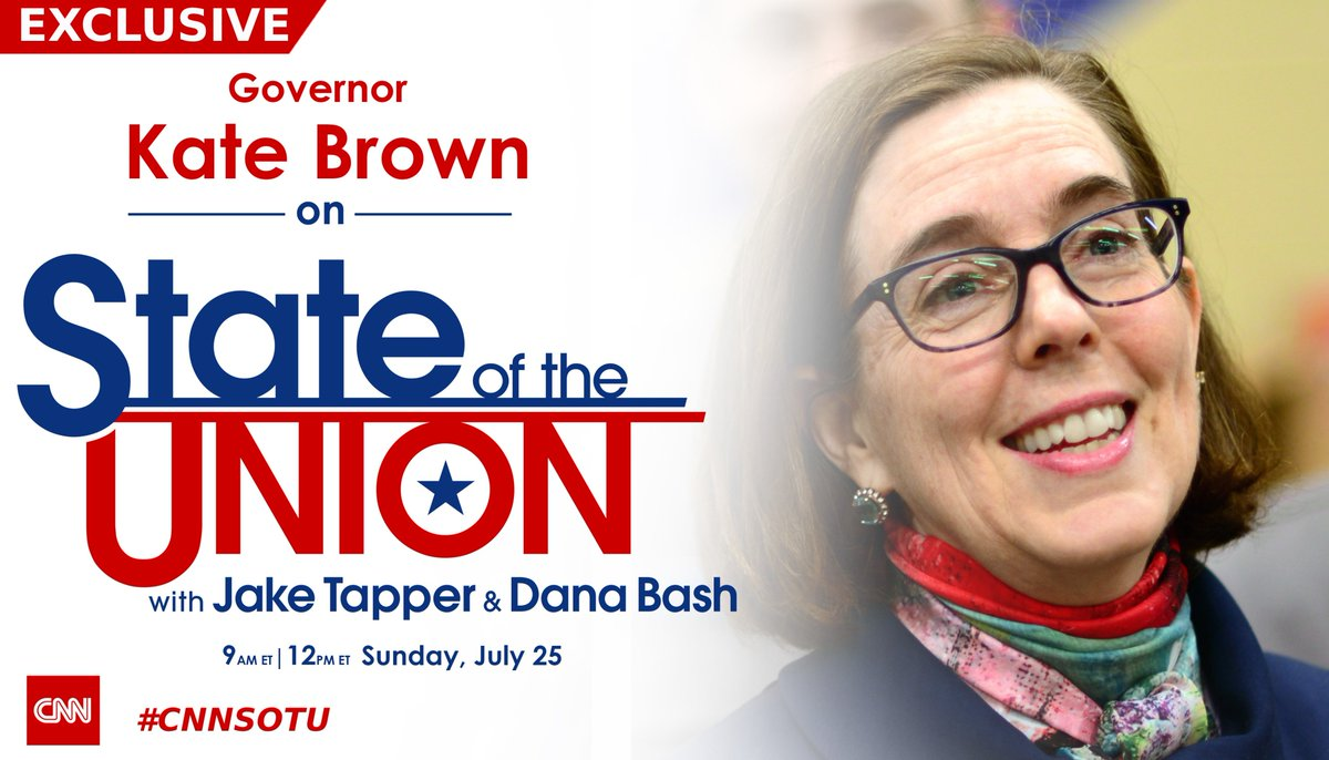 EXCLUSIVE: @OregonGovBrown joins @jaketapper on #CNNSOTU. Hope you tune in! https://t.co/b2EADALSfB