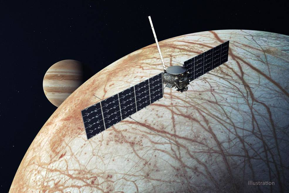 Launching October 2024! Our @EuropaClipper will ride on a Falcon Heavy rocket carrying a sophisticated suite of science instruments to investigate whether Jupiter's icy moon has conditions suitable for life: https://t.co/D5QYu51YfX https://t.co/eJGu2TtHLK