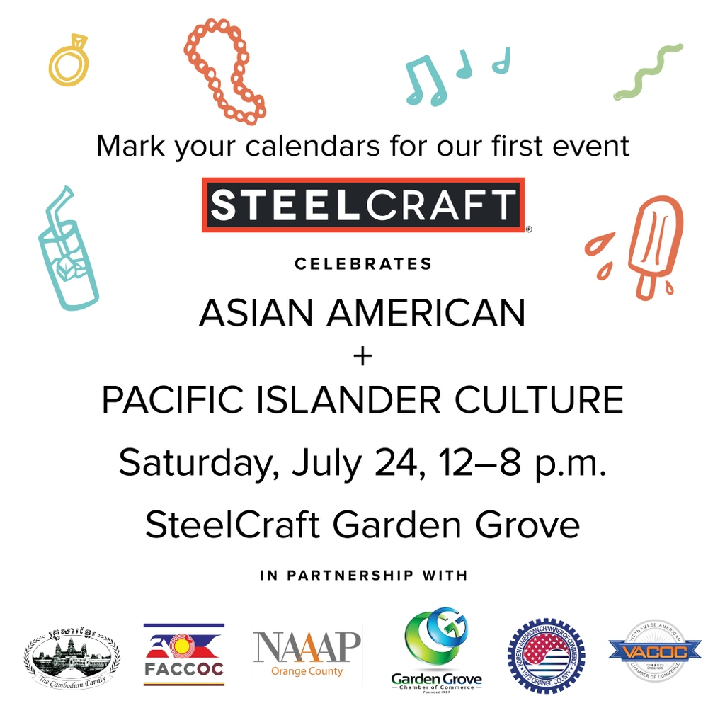 Join us tomorrow, Saturday, July 24 for SteelCraft's first #Summer Culture Series celebrating #AsianAmerican and #PacificIslander #culture! Starting at noon, @steelcraftgg will host speakers, makers and live performances from the #AAPI community. We look forward to seeing you! https://t.co/BhpbiE6Fwq