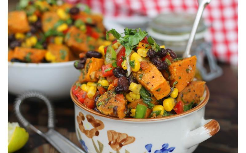 Spicy Sweet Potato Salad #vegan #seasonal #recipe https://t.co/koqfP6y3Wf https://t.co/raUTgKmyvU