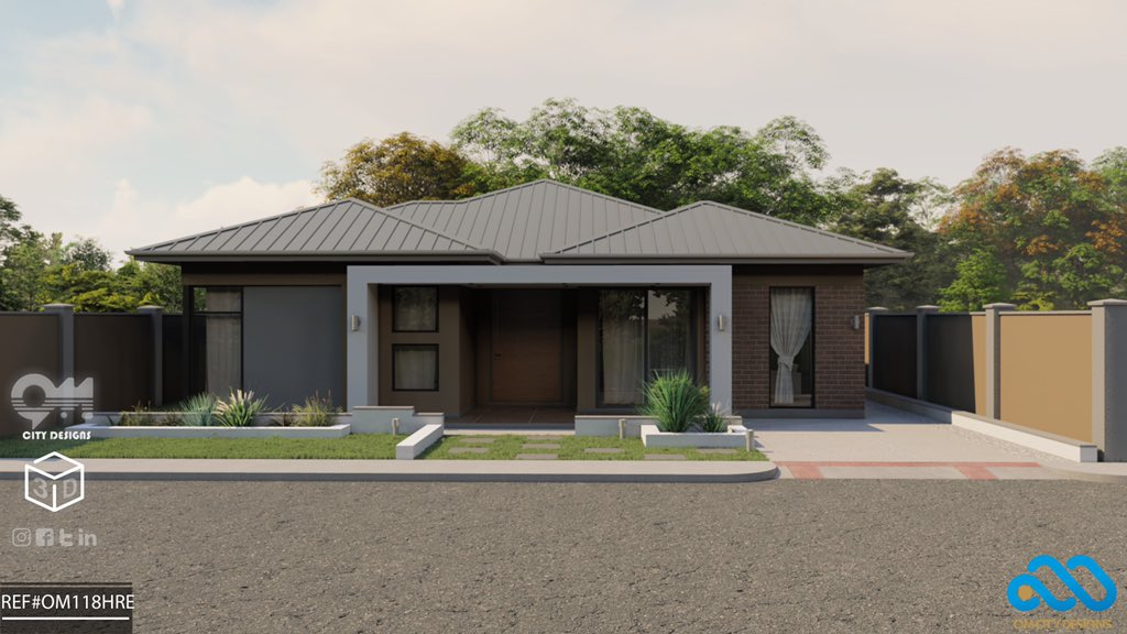 'Build a future not a Fortune ' 3D  -4 Bedrooms (1 En-suite) -Lounge +Dining + Kitchen (open) -Area covered 229sqm on 425sqm  Call or WhatsApp +263773769227 email: info@omcitydesigns.co.zw website: https://t.co/JFAl9eYMnQ  #Tokyo2021  #COVID19 #zimbabwe #today @onissymus #tbt https://t.co/ogaHXgy7KF
