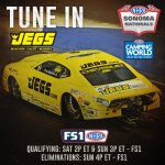 Image for the Tweet beginning: 📺 TUNE IN: Checkout @nhra