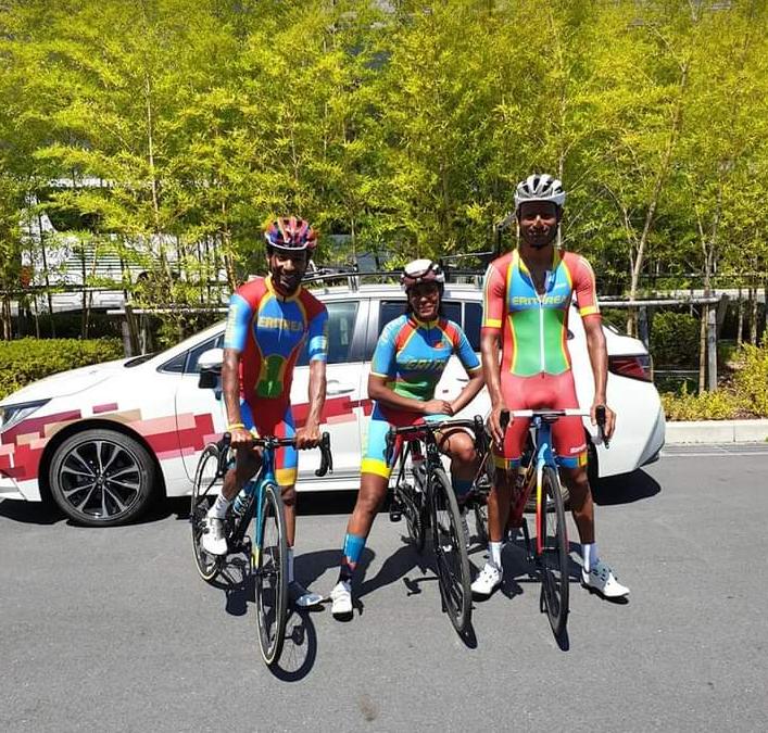 ሓበን ሃገር 🇪🇷🇪🇷🇪🇷🚴♂️🚴♀️🚴♂️እግዚኣብሄር ይሓግዝኩም። ከም ወትሩ ብዓወት ተመለሱና። 🥇🥇🥇🏆🏆🏆 #TeamEritrea #Tokyo2020 #Eritrea #EritreaPrevails #Eritrea https://t.co/COmmOozlsj