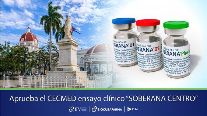 Soberana Centro clinical trial begins today in Cienfuegos