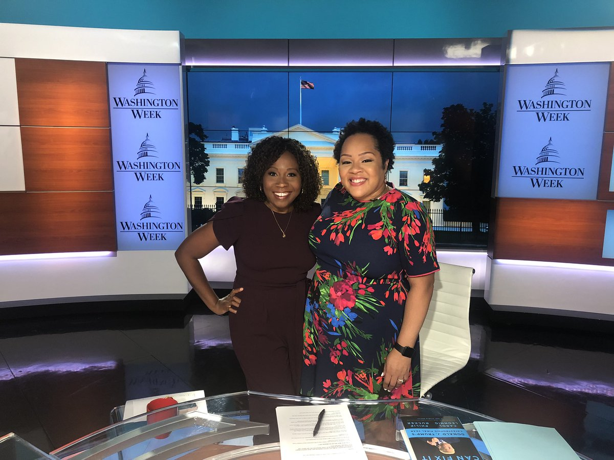 It was an honor to be back on @washingtonweek w/ @Yamiche! We first met when she was a reporter for the Times covering Bernie Sanders on the campaign trail and I was an anchor in VT. When she stuck her head in the dressing room tonight, it truly hit me how incredible this all is https://t.co/kXhss7s6Fc