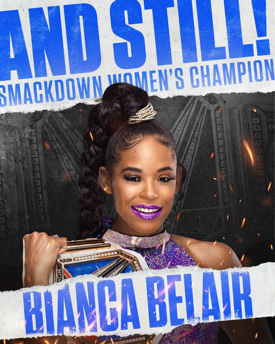 #ANDSTILL the #SmackDown Women's Title @BiancaBelairWWE 🏆🏆🏆👊🏽👊🏽👊🏽👏👏👏👏💪💪💪 https://t.co/fbZh6lRNef