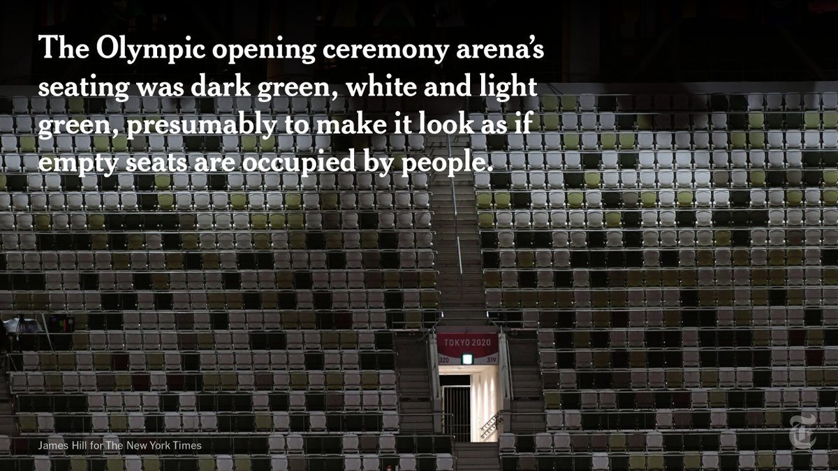 10,400 people were in attendance at the #OpeningCeremony in Tokyo — in an Olympic stadium designed for 68,000, organizers said. https://t.co/AKa1anVDyM https://t.co/4ul3hHxKty