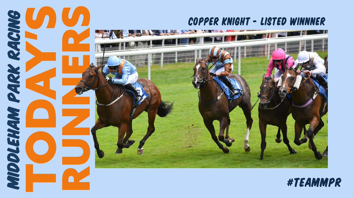 Four Saturday runners for #TeamMPR! It's @yorkracecourse first as ADMIRALITY runs in the Class 2 SKY BET DASH for and OUTRUN THE STORM looks for a Knavesmire double. Then it's over to @salisburyraces this evening for KING OF THE KIPPAX & DEWEY ROAD. Good luck to all connections!