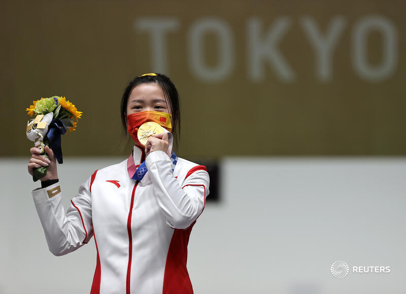 China's Yang wins first gold medal of Tokyo Olympics https://t.co/m3HePVj6ow #Tokyo2020 https://t.co/DtDRLGvHQp