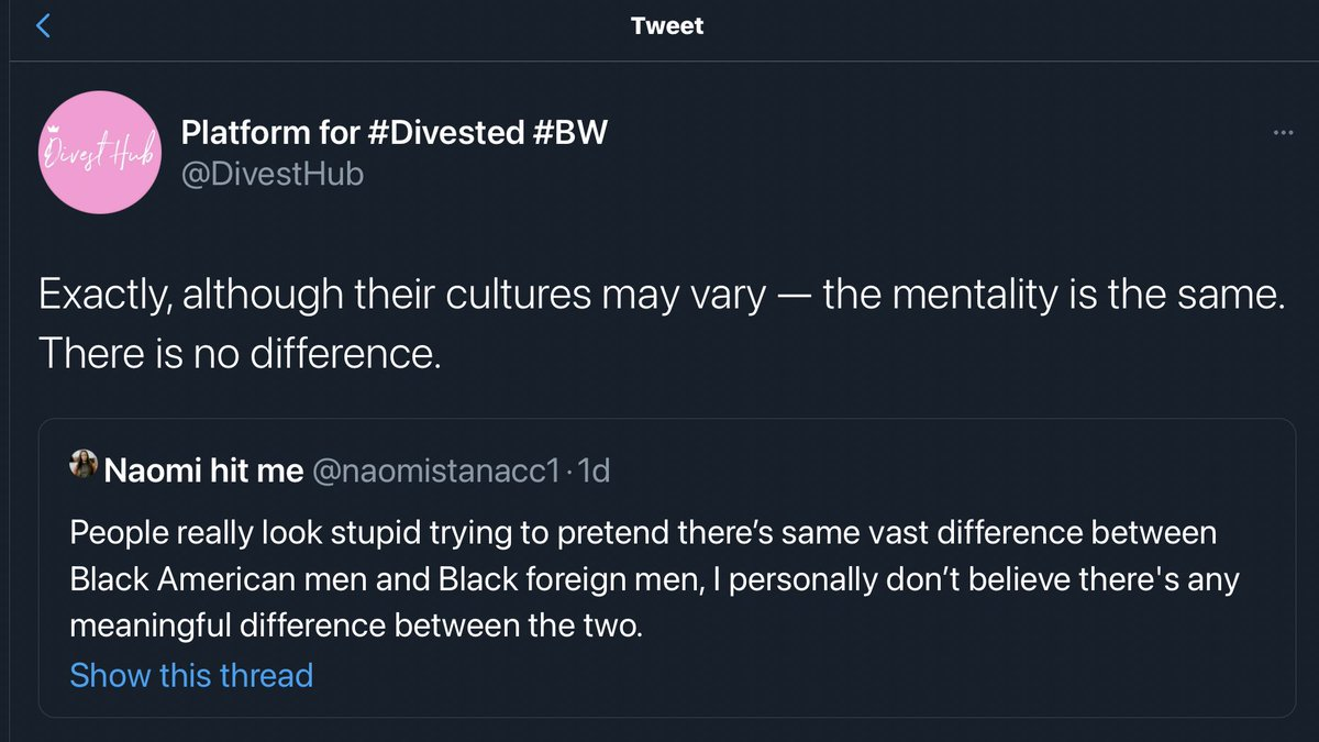 #DivestTwitter and 🌈simps engaging in more anti-black misandry. https://t.co/LFN8ddbHiG