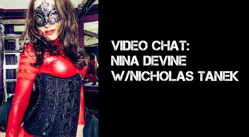 """VIDEO: Nina Devine   """"If you want a Dominatrix for your wedding day, I'll be happy to spank all of your guests.""""  @_Nina_Devine is from #Italy. She is the co-host of Dirty Talks From The Dungeon. We discuss #sadism, #ballbusting, & Italian #pizza.  https://t.co/gkZswpIFzT https://t.co/mitEREAqgR"""