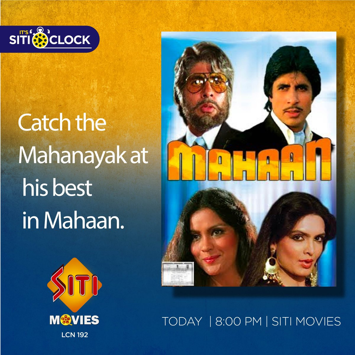 Here is an indulgence for all Big B fans, watch India's biggest superstar work his charm. #Entertainment #Movie #Mahaan #SITINetworks https://t.co/2QEJPPOs0L