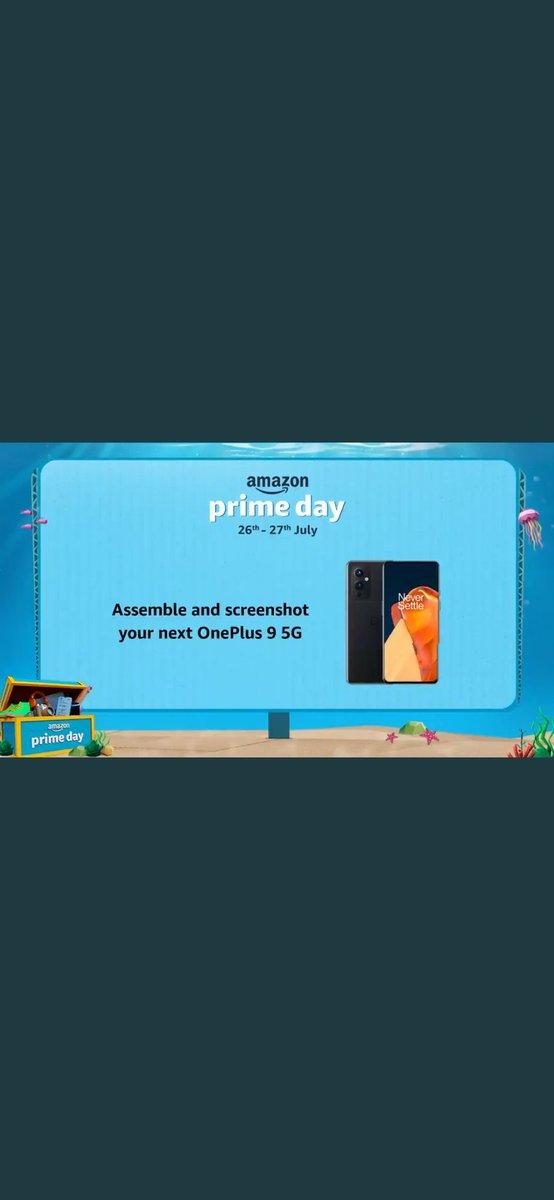 @amazonIN #AmazonPrimeDayOnePlus95G  #Contest perfect screenshot https://t.co/0o38zEdikQ