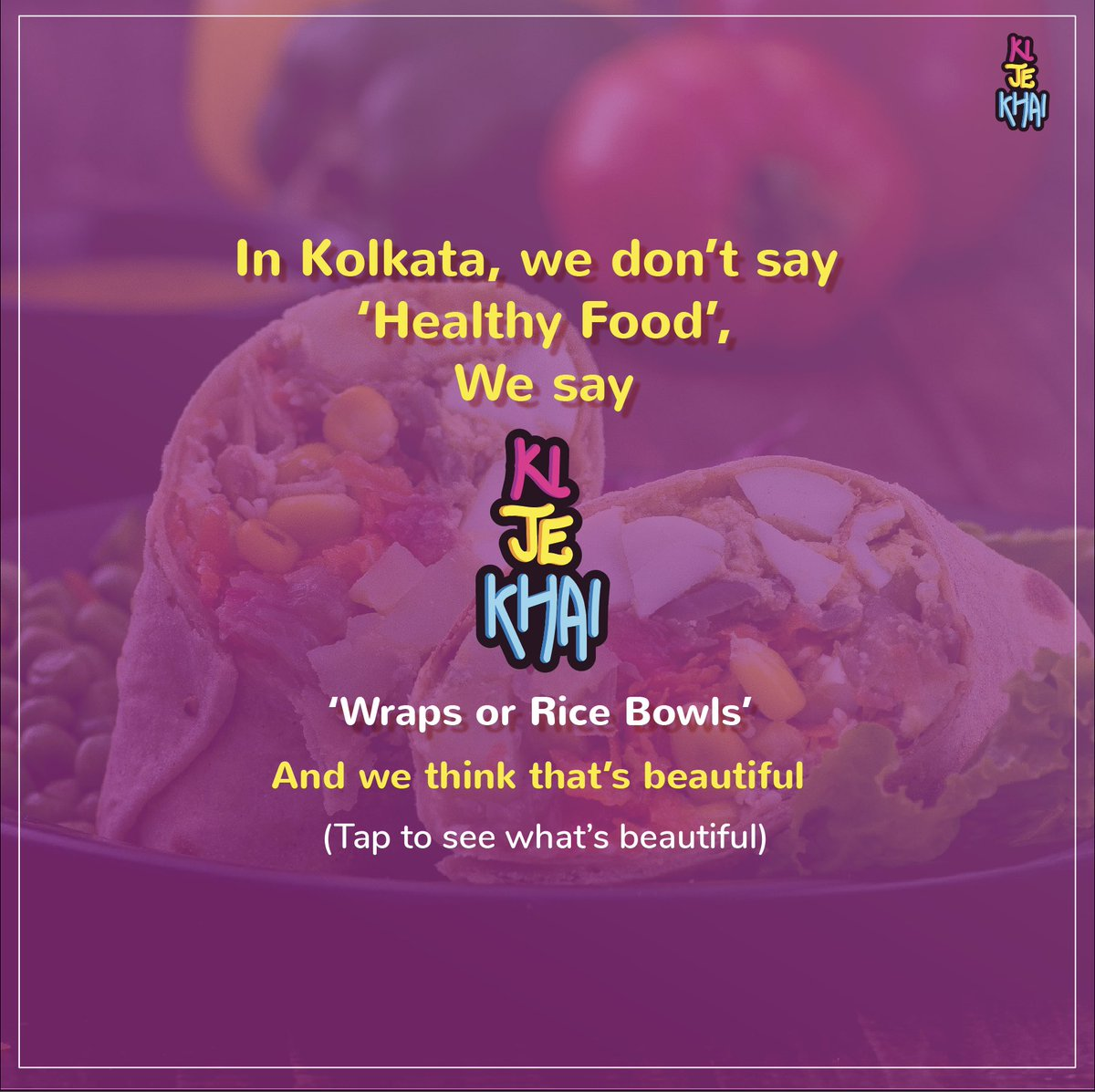 Healthy food, did you say? 🧐  #thatsbeautiful . #food #wraps #ricebowls #love #healthy #healthyfood #tasty #healthylifestyle #veggie #kolkata #trending https://t.co/RhgP3YOdil
