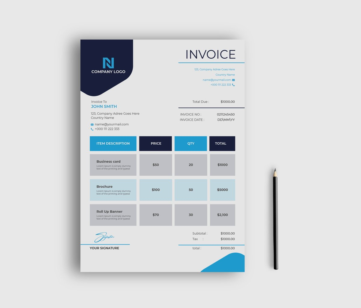 My new Xero or invoice design template. How is this? For a better view and download the template for free please visit: https://t.co/FNGN92CaA9  #Graphic_Designer #invoicedesign #Olympics #BTSonFallon #Olympics #FridayFeeling #OpeningCeremony #darkpoolcorruption https://t.co/EPsoghx2xj