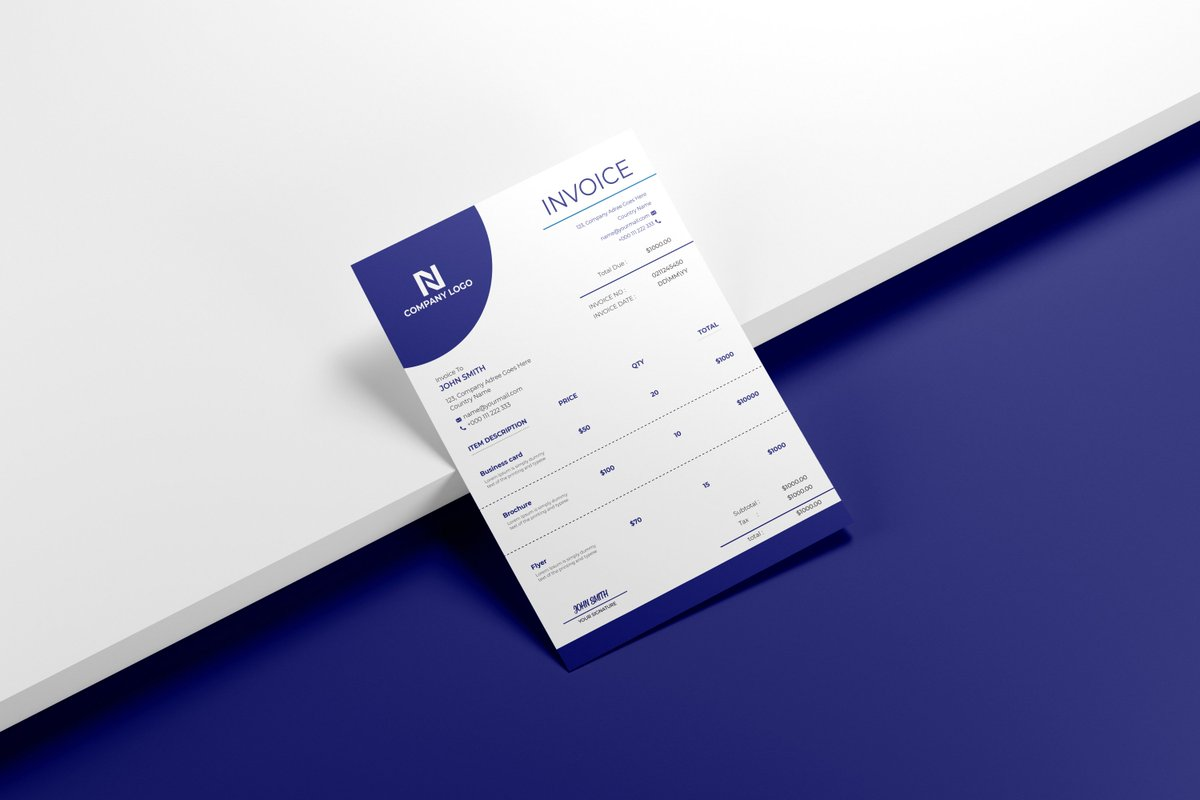 My new Xero or #invoice #design #template . How is this?  Visit my portfolio: https://t.co/i3i81PMb0m   #Graphic_Designer #invoicedesign #logodesigner  #Olympics #BTSonFallon #Olympics #FridayFeeling #OpeningCeremony #darkpoolcorruption https://t.co/G0q1G80N6Y