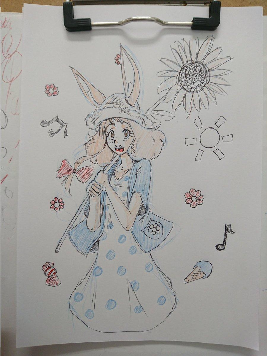 Sunflower ひまわり🌻 #drawing #animegirl #originalcharacter #sketch #bunnygirl #ilustration #kemonomimi #オリキャラ #らくがき #うさみみ #バニーガール #イラスト #けものみみ #ArtistOnTwitter #art #絵描きさんと繋がりたい  #イラスト好きさんと繋がりたい https://t.co/oC1c277F8Y