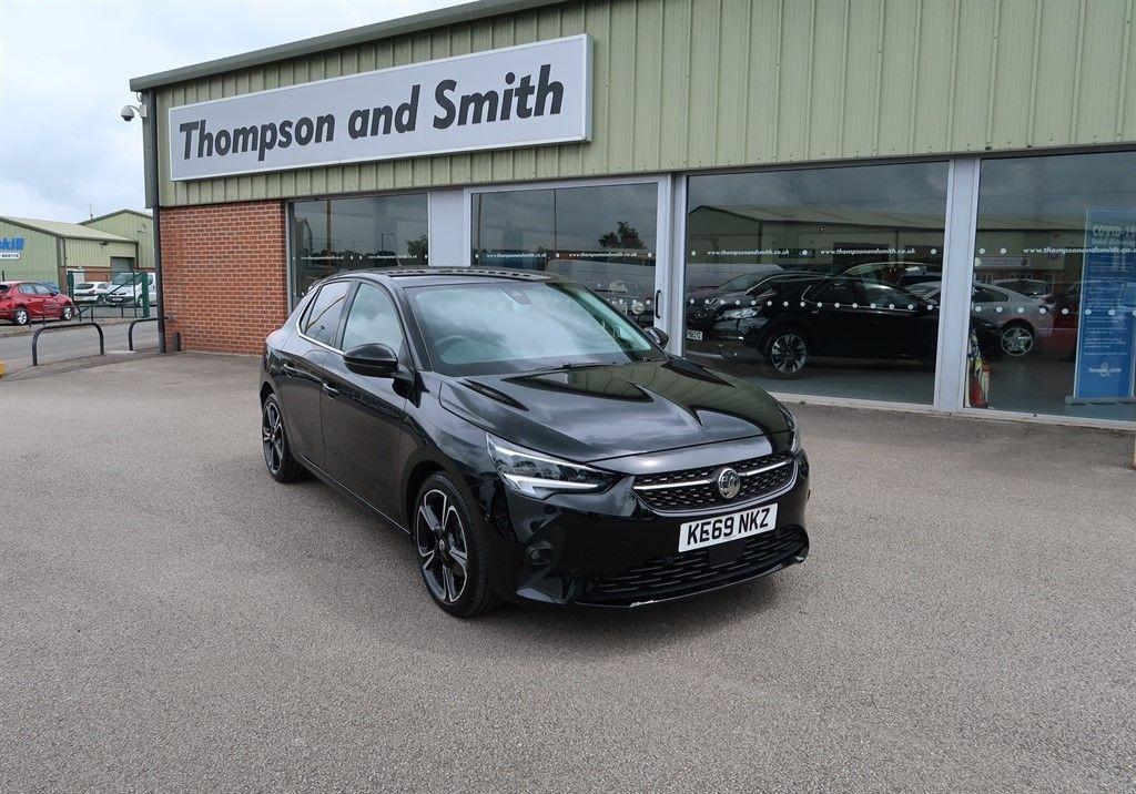 "High Spec 2020 Vauxhall Corsa Elite Nav Premium 1.2 Turbo (100ps) Auto 5dr in Diamond Black with 17"" diamond cut twin spoke gloss black alloys. See more at: https://t.co/LFptFq5LYW #Vauxhall #Corsa #Premium #DiamondBlack #Sporty #Turbo #HighSpec #fullyloaded #Louth #Lincolnshire https://t.co/XmGLV2v4LI"