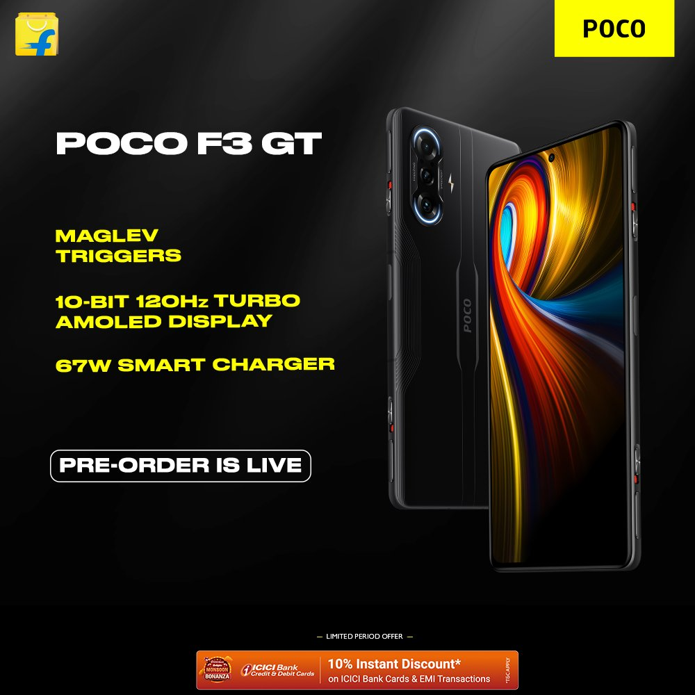 Still waiting to get your hand on the #POCOF3GT? Well, you're in luck.   Preorders for all Flipkart members starting at 12PM today on @Flipkart!! Are you ready to #SwitchItUp? https://t.co/LLEWtQYrbW