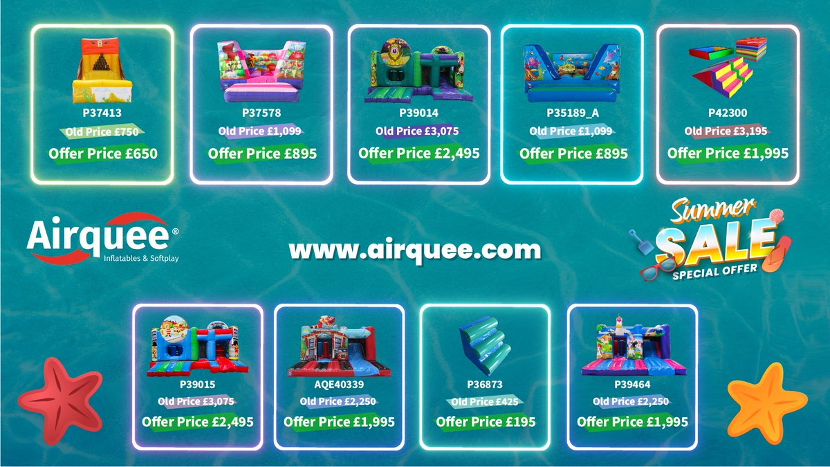 Huge discounts on selected inflatables. Click here to see: airquee.com/en/airquee-off… Grab yours before they are gone! We have something for everyone. 📌Offer ends 31.07.2021 For more details please call +44 (0)1179 414918 #airquee #offer #summersale #ordernow