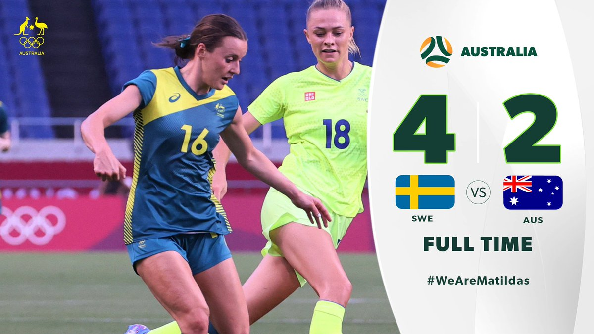 Not our night. But we move on to the next one 👊🏼  #SWEvAUS #GoAustralia #WeAreMatildas https://t.co/H7uAQDBaVJ