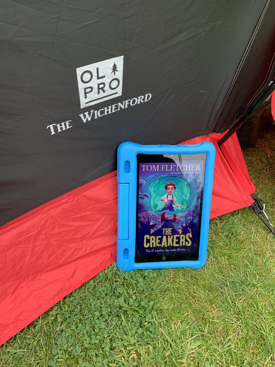 📚 #SummerReadingChallenge2021  Mr Grant-Roberts really is getting WILD with his first book of the summer! He is camping with his family and they're enjoying #TheCreakers by @TomFletcher 🏕  Imagine arriving at school and finding all the grown-ups gone… 😱