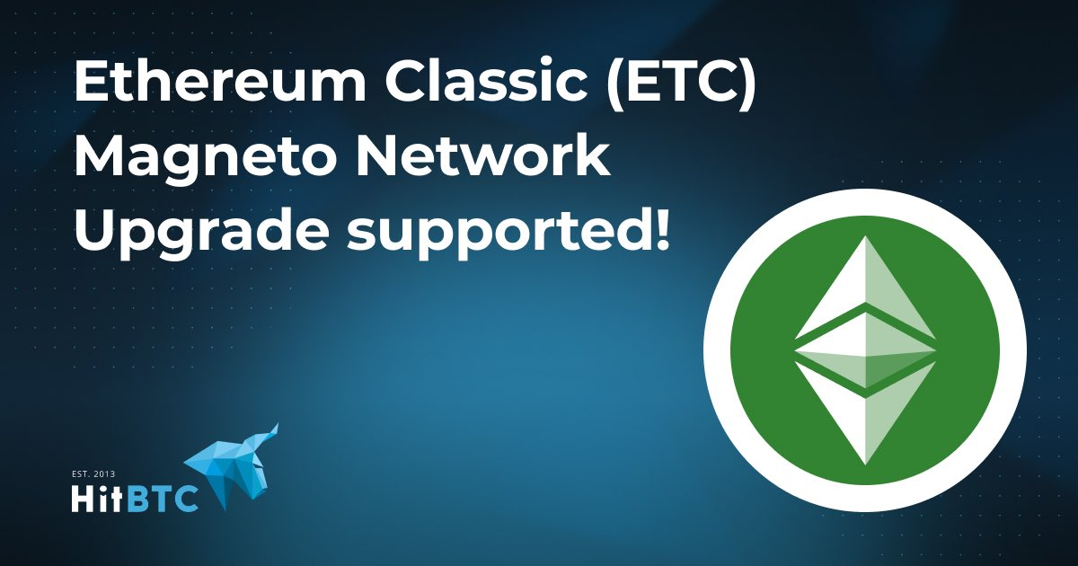 HitBTC has successfully implemented the Magneto network upgrade. Thanks for the continued support @hitbtc! https://t.co/FY4Kr8GrjA