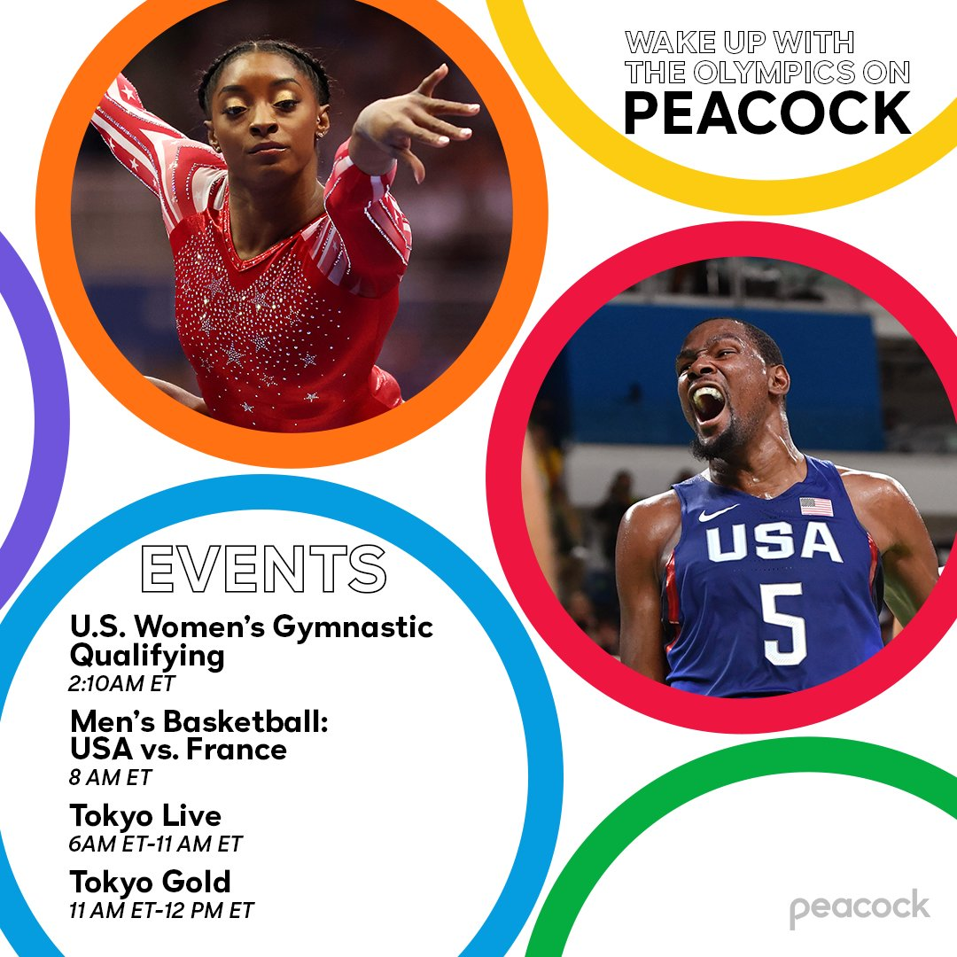 Simone Biles and Kevin Durant are *definitely* worth an early alarm. ⏰ #TokyoOlympics https://t.co/sRYGkGM5Wx