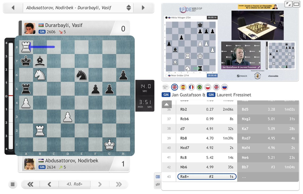 test Twitter Media - A beautiful checkmating finish by Abdusattorov! https://t.co/1QIZviqR4b  #c24live #FIDEWorldCup https://t.co/edzlcKpGtO