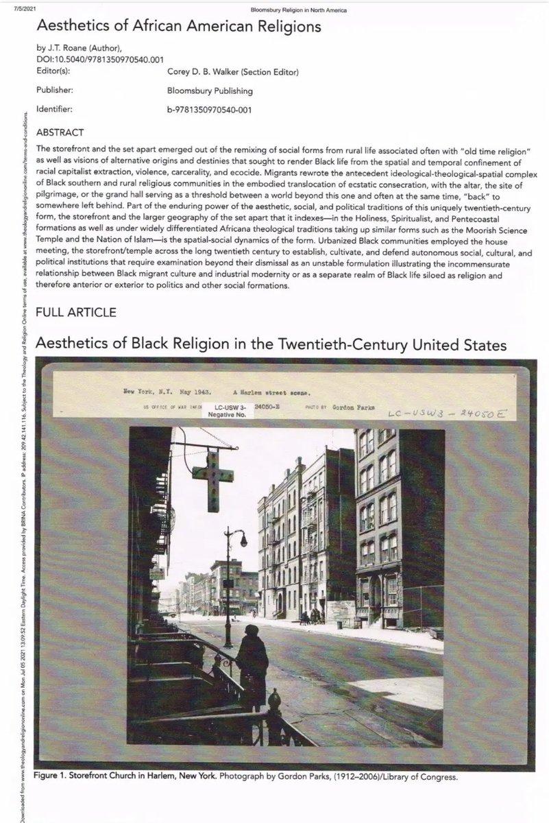 Aesthetics of Black Religion in the Twentieth-Century United States—https://t.co/CevvBiJA6x https://t.co/rtEv4gAjf0