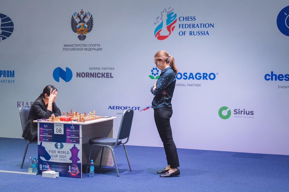 test Twitter Media - Peter Svidler, Dzagnidze Nana, Dinara Saduakassova and Alexander Grischuk won their games against Nikita Vitiugov, Polina Shuvalova, Alina Kashlinskaya and Anton Korobov, respectively. #FIDEWorldCup https://t.co/iHjC41b2FX