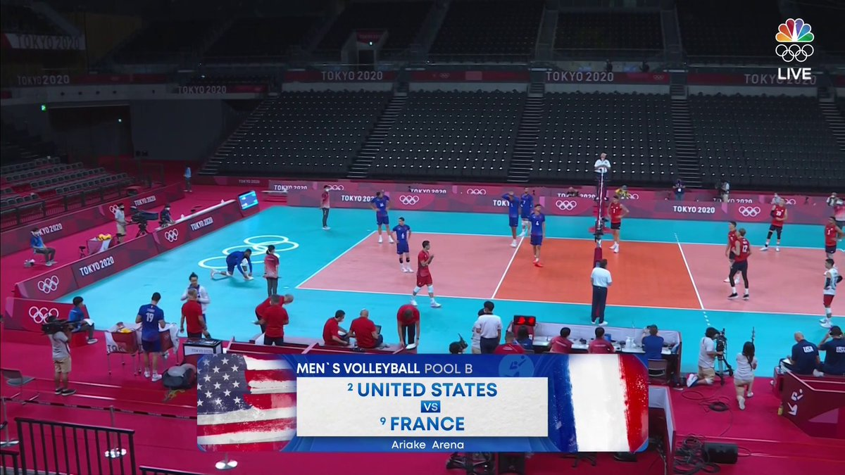 Tune in NOW to catch the men of @usavolleyball 🇺🇸 as they take on France 🇫🇷!  @TeamUSA x #TokyoOlympics  📺 @peacockTV 💻 https://t.co/sxg4PzYzbN https://t.co/ARwElS53Xp