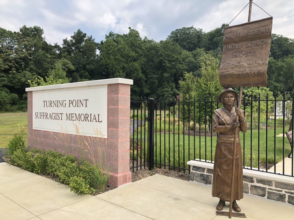 Turning Point Suffragist Memorial at Occoquan, honoring the #suffrage movement #NWP #womenshistory #sschat https://t.co/363ZsAujRm