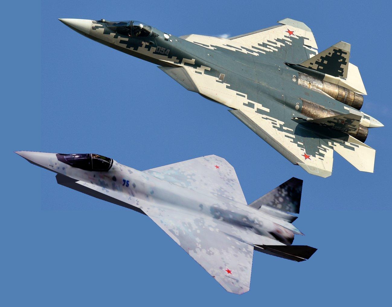 Su-57 Stealth Fighter: News #7 - Page 37 E7EXnhmWEAEmaEK?format=jpg&name=large