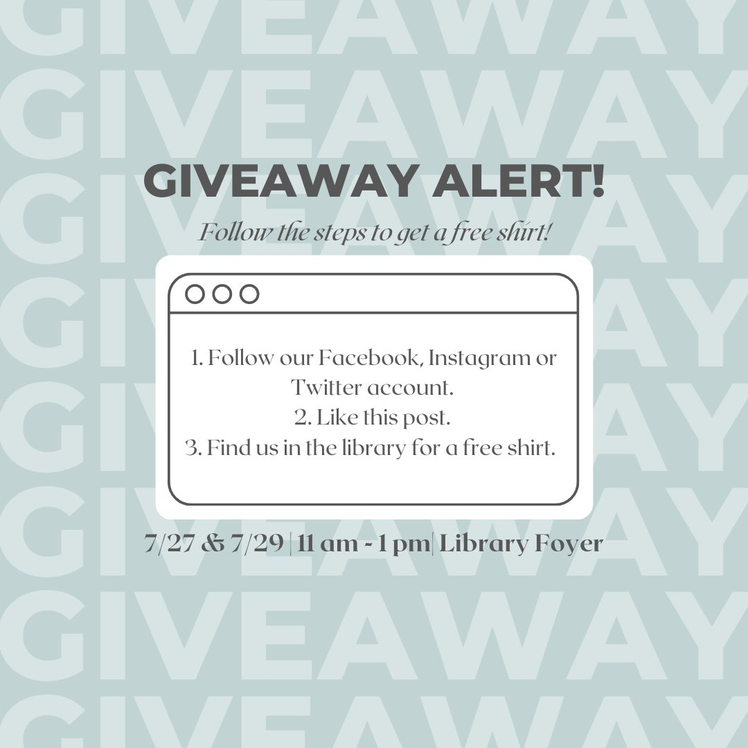 GIVEAWAY ALERT! Follow the steps in the picture to try and snag a free throwback UT Health SA shirt while supplies last! psst.... you will need to find us in our new office space on 7/27 & 7/29 to try and snag this giveaway though! #uthealthsa #throwbacktuesday #throwbackthursday https://t.co/XwtsTrt1yX