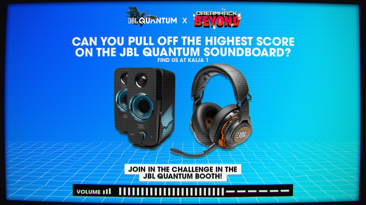 Quantum Soundboard is LIVE 🔊  Compete in our audio challenge, the player with the most score wins a JBL Quantum bundle!  Interested? Hop into our virutal booth now 👇    #DHBeyond